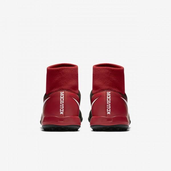 Nike Jr. Magistax Onda II Dynamic Fit Tf Fußballschuhe Mädchen Schwarz Rot Weiß 416-35424