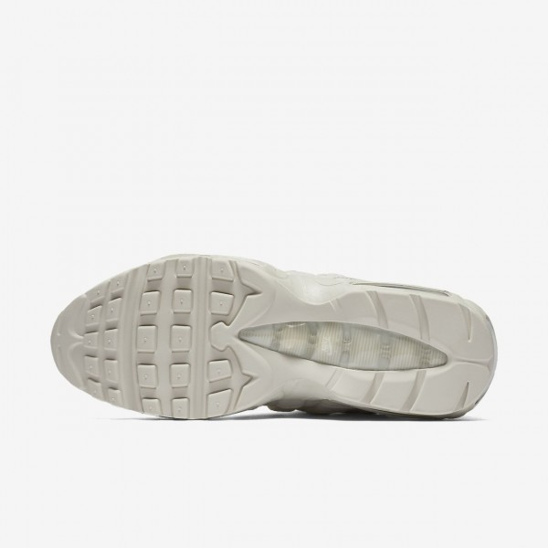 Nike Air Max 95 Premium Freizeitschuhe Herren Weiß Grau 427-53622