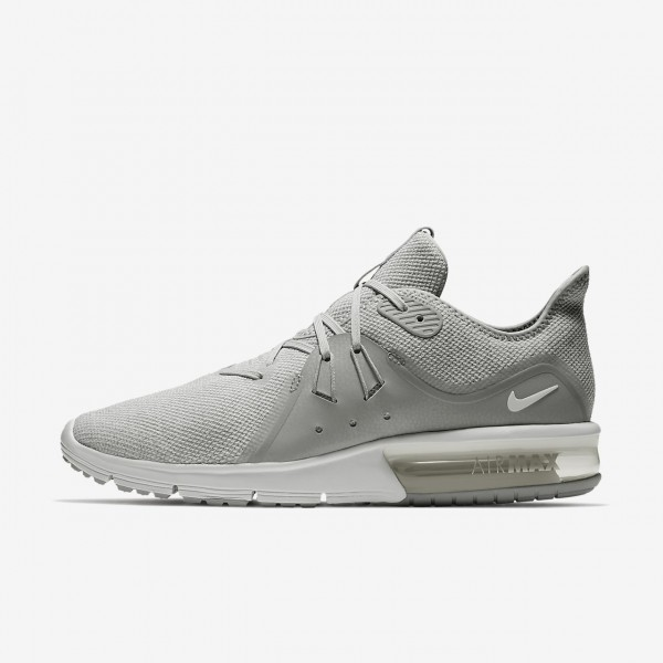 Nike Air Max Sequent 3 Laufschuhe Herren Grau Plat...