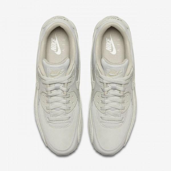 Nike Air Max 90 Premium Freizeitschuhe Herren Weiß Grau 332-30254