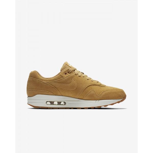 Nike Air Max 1 Premium Freizeitschuhe Herren Weiß Braun 796-49980