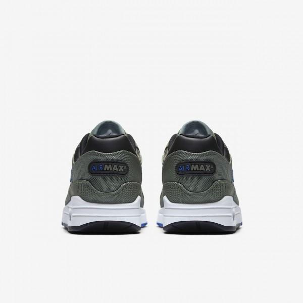 Nike Air Max 1 Premium Freizeitschuhe Herren Grün Weiß Schwarz Königsblau 823-13807