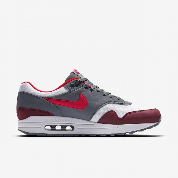 Nike Air Max 1 Freizeitschuhe Herren Weiß Grau Rot 521-55821