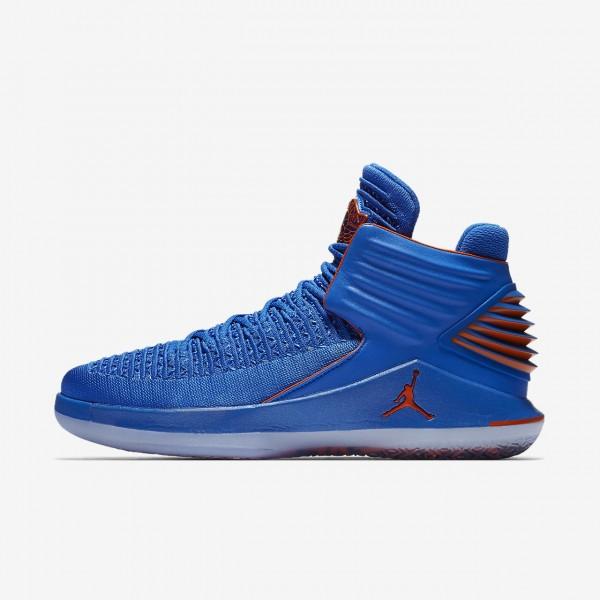 Nike Air Jordan XXXII Russ Basketballschuhe Herren Blau Metallic Silber Orange 580-38650