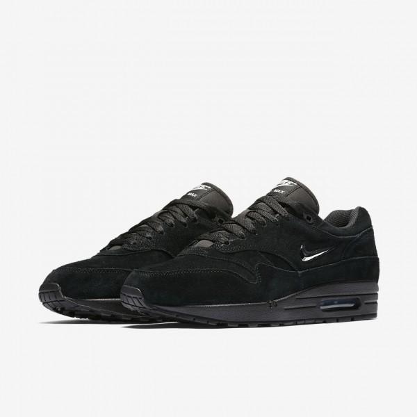 Nike Air Max 1 Premium Sc Freizeitschuhe Herren Schwarz Silber 680-31654