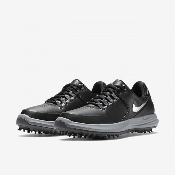 Nike Air Zoom Accurate Golfschuhe Damen Schwarz Dunkelgrau Silber 530-13380