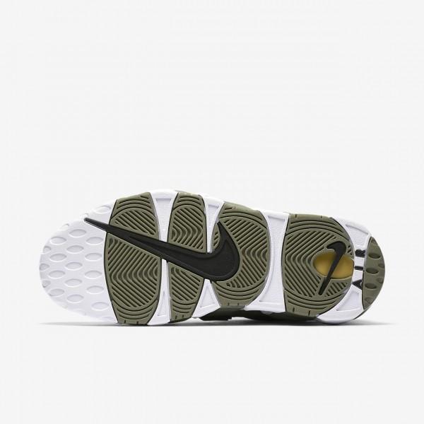 Nike Air More Uptempo Freizeitschuhe Damen Dunkelolive Schwarz Weiß 287-41769