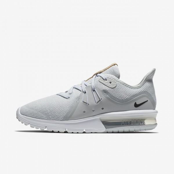 Nike Air Max Sequent 3 Laufschuhe Damen Platin Wei...