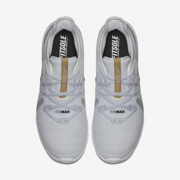 Nike Air Max Sequent 3 Laufschuhe Damen Platin Weiß Schwarz 839-94582