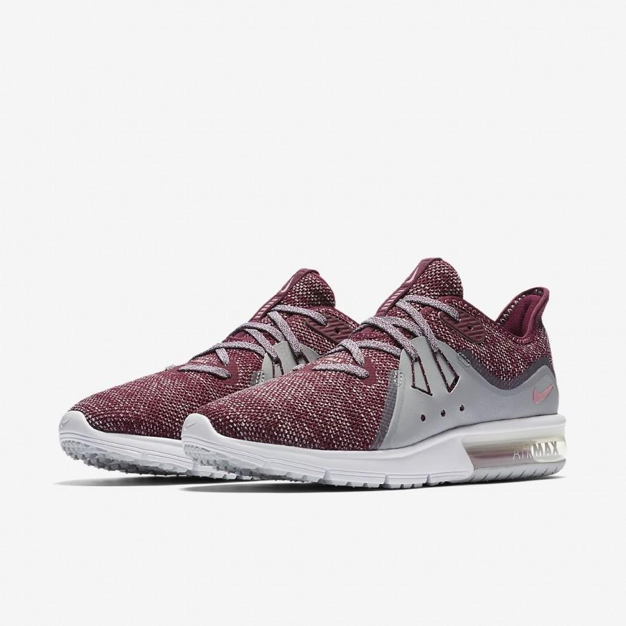 Nike Air Max Sequent 3 Laufschuhe Damen Bordeaux Grau Pink