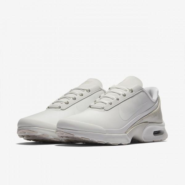 Nike Air Max Jewell Leder Freizeitschuhe Damen Weiß Metallic Weiß 284-62486