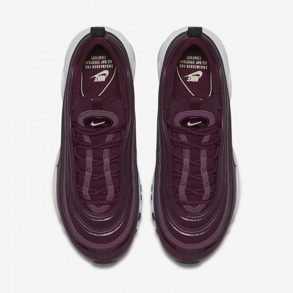 Nike Air Max 97 Premium Freizeitschuhe Damen Bordeaux Schwarz Weiß 920-45604