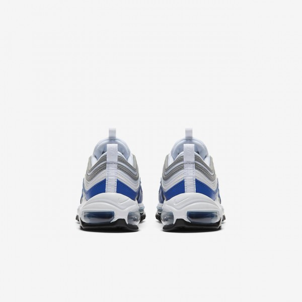 Nike Air Max 97 Freizeitschuhe Damen Weiß Grau Silber Königsblau 193-31257