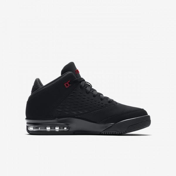 Nike Jordan Flight Origin 4 Outdoor Schuhe Jungen Schwarz Rot 536-93944