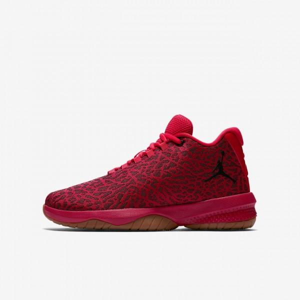Nike Jordan B Fly Basketballschuhe Jungen Rot Brau...