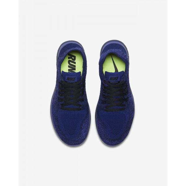 Nike Free Rn Flyknit 2017 Laufschuhe Jungen Tiefes Königsblau Blau Lila Pink Schwarz 135-75494