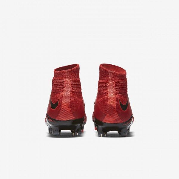 Nike Hypervenom Phantom 3 Df Fg Fußballschuhe Jungen Rot Schwarz 537-46899