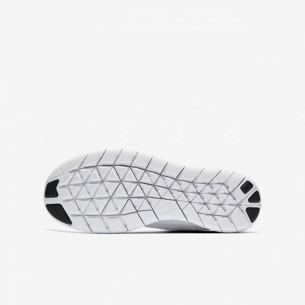 Nike Free Rn 2017 Laufschuhe Jungen Weiß Schwarz Platin 120-93060
