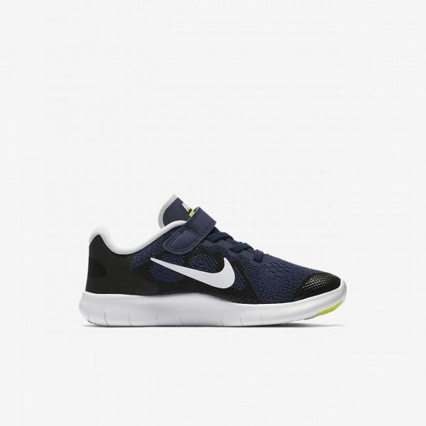 Nike Free Rn 2017 Laufschuhe Jungen Blau Schwarz Grün Weiß 518-36591