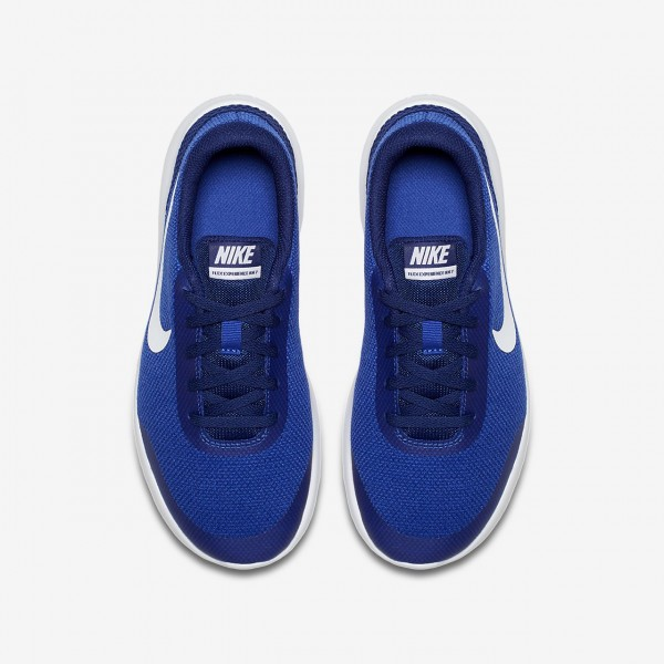 Nike Flex Experience Run 7 Laufschuhe Jungen Königsblau Tiefes Königsblau Blau Weiß 576-24764
