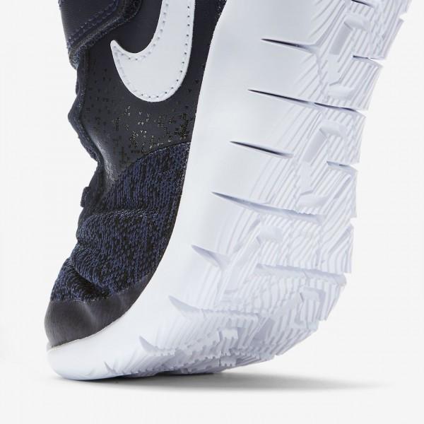 Nike Flex Contact Laufschuhe Jungen Navy Schwarz Weiß 725-14276