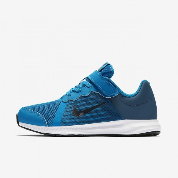 Nike Downshifter 8 Laufschuhe Jungen Blau Navy Wei...