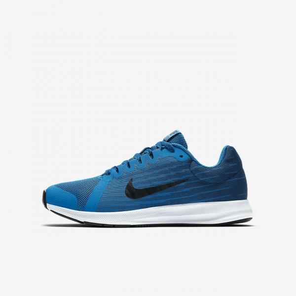 Nike Downshifter 8 Laufschuhe Jungen Blau Navy Weiß Dunkelobsidian 148-76737