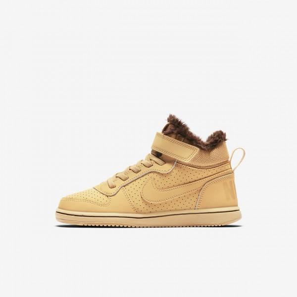 Nike Court Borough Mid Winter Freizeitschuhe Jungen Braun 144-33974
