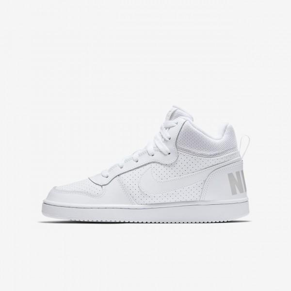 Nike Court Borough Mid Freizeitschuhe Jungen Weiß...