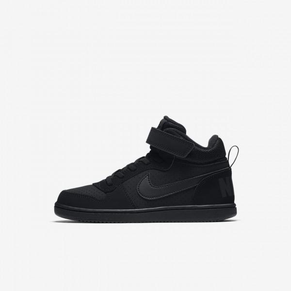 Nike Court Borough Mid Freizeitschuhe Jungen Schwa...