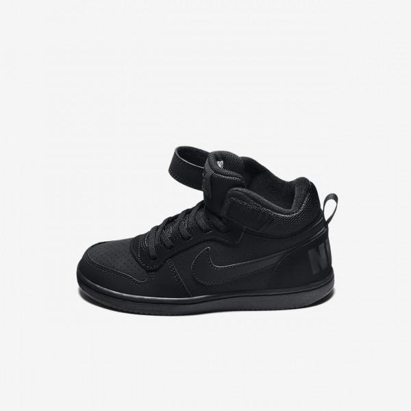 Nike Court Borough Mid Freizeitschuhe Jungen Schwarz 644-83458