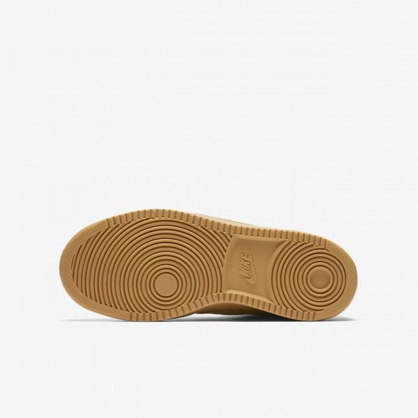 Nike Court Borough Mid Freizeitschuhe Jungen Braun Hellbraun 778-18357