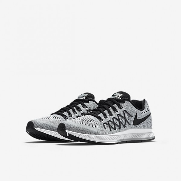 Nike Air Zoom Pegasus 32 Laufschuhe Jungen Platin Dunkelgrau Schwarz 649-87216