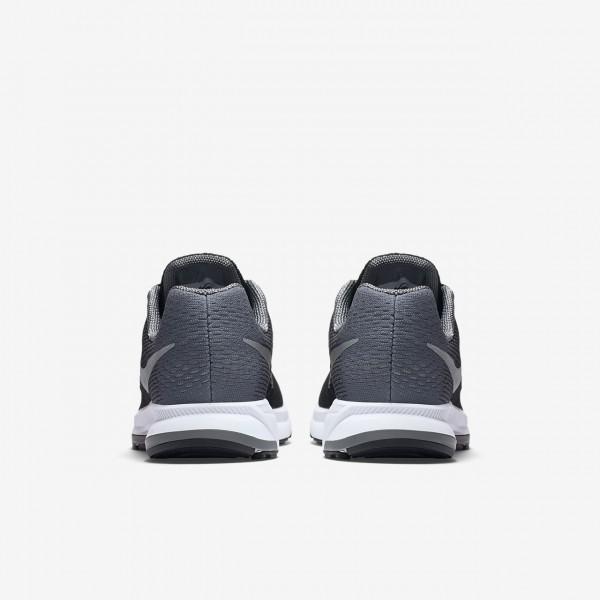 Nike Air Zoom Pegasus 33 Laufschuhe Jungen Schwarz Grau Metallic Silber 727-20582