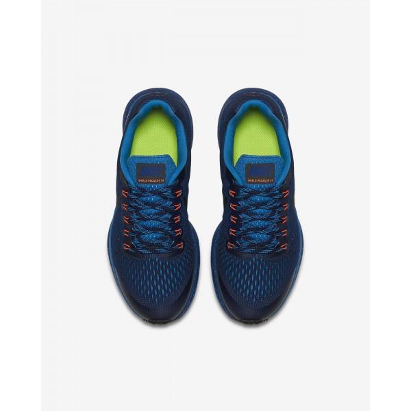 Nike Air Zoom Pegasus 34 Shield Laufschuhe Jungen Blau Schwarz 440-55133