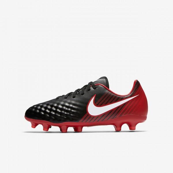 Nike Jr. Magista Onda II Fg Fußballschuhe Mädchen Schwarz Rot Weiß 552-16676