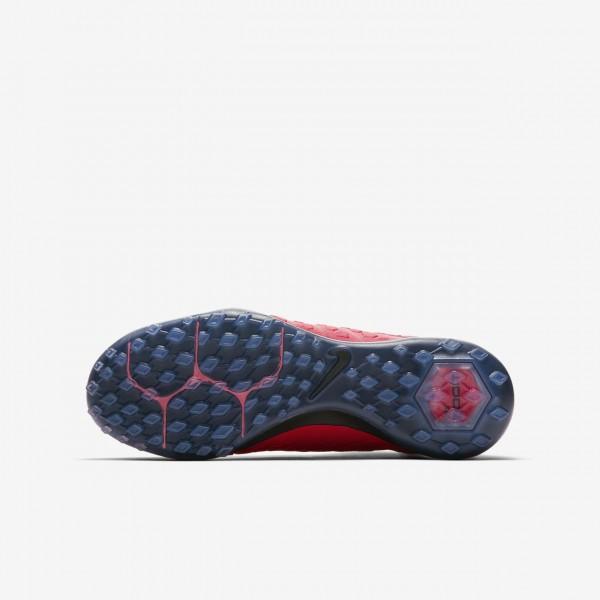 Nike Jr. Hypervenomx Proximo II Dynamic Fit Tf Fußballschuhe Mädchen Rot Schwarz 432-19988