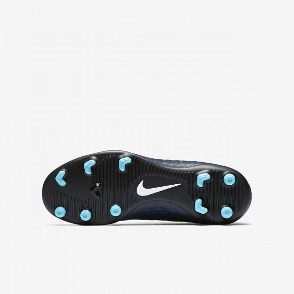 Nike Jr. Hypervenom Phade 3 Fg Fußballschuhe Mädchen Obsidian Blau Weiß 371-86417