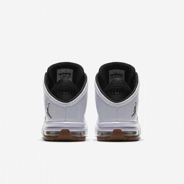 Nike Jordan Flight Origin 4 Freizeitschuhe Mädchen Weiß Schwarz Braun Metallic Gold 811-85707