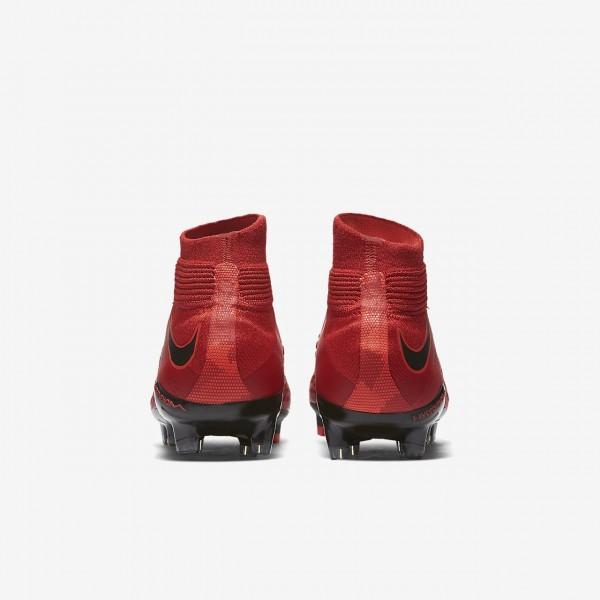 Nike Hypervenom Phantom 3 Df Fg Fußballschuhe Mädchen Rot Schwarz 166-78639