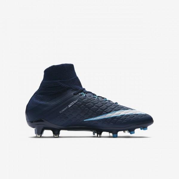 Nike Hypervenom Phantom 3 Df Fg Fußballschuhe Mädchen Obsidian Blau Weiß 725-89549
