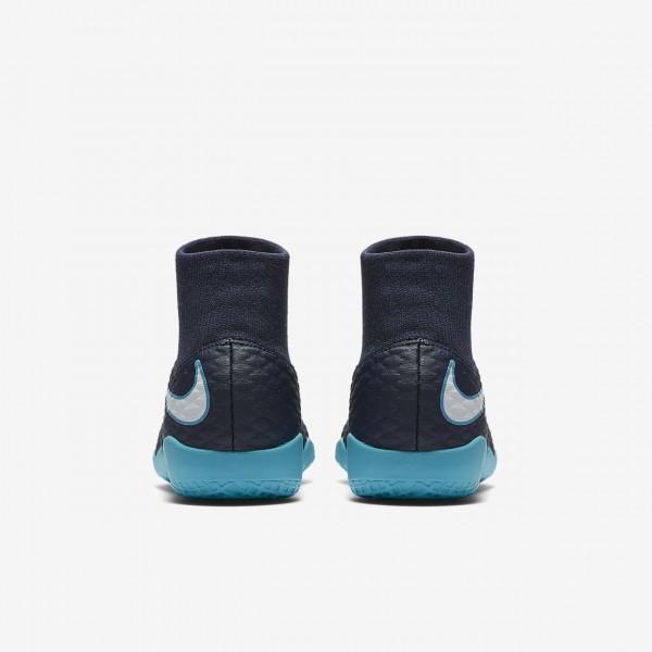 Nike Jr. Hypervenomx Phelon III Dynamic Fit Ic Fußballschuhe Mädchen Obsidian Blau Weiß 262-72068