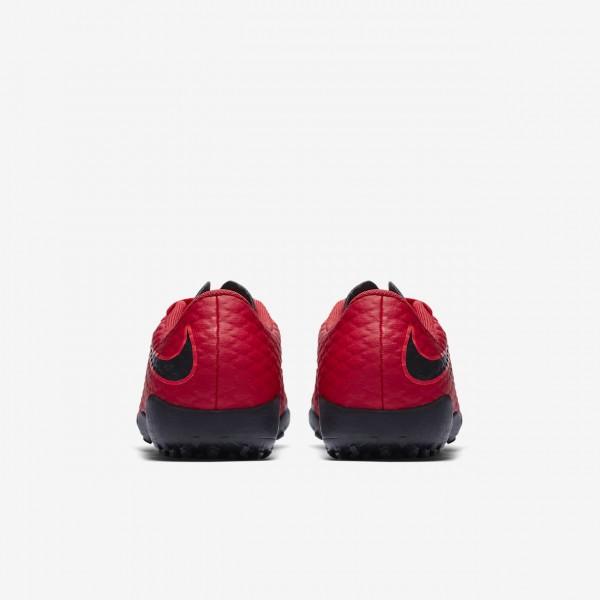 Nike Jr. Hypervenomx Phelon 3 Tf Fußballschuhe Mädchen Rot Schwarz 567-28976
