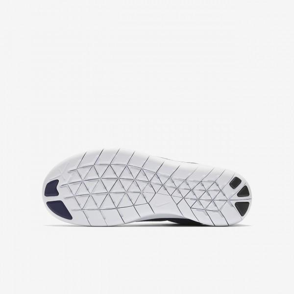 Nike Free Rn 2017 Laufschuhe Mädchen Lila Schwarz Dunkellila Metallic Silber 506-87003