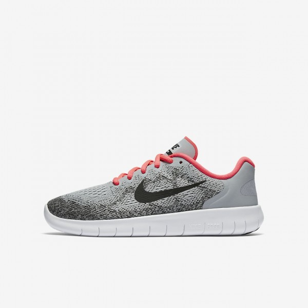 Nike Free Rn 2017 Laufschuhe Mädchen Grau Pink We...