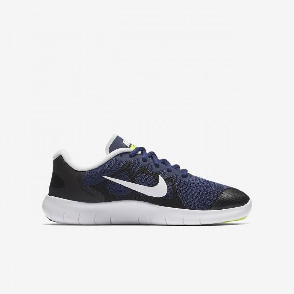 Nike Free Rn 2017 Laufschuhe Mädchen Blau Schwarz Grün Weiß 187-40297