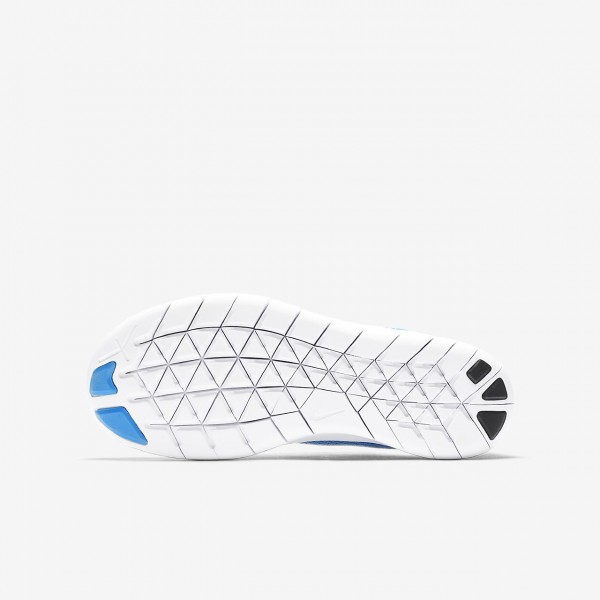 Nike Free Rn 2017 Laufschuhe Mädchen Blau Metallic Silber 695-61627