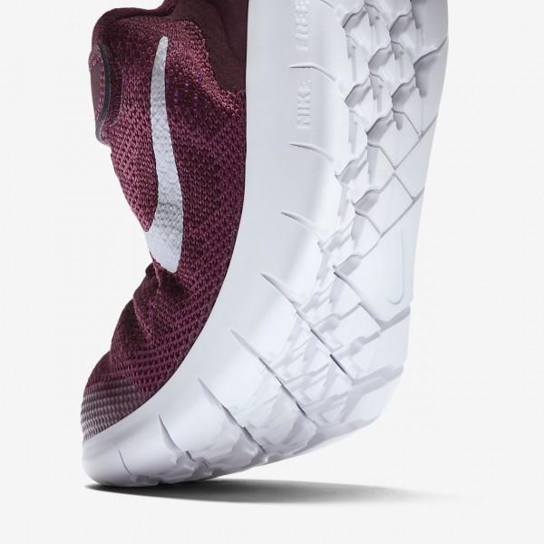 Nike Free Rn 2017 Laufschuhe Mädchen Bordeaux Fuchsie Metallic Silber 299-40742