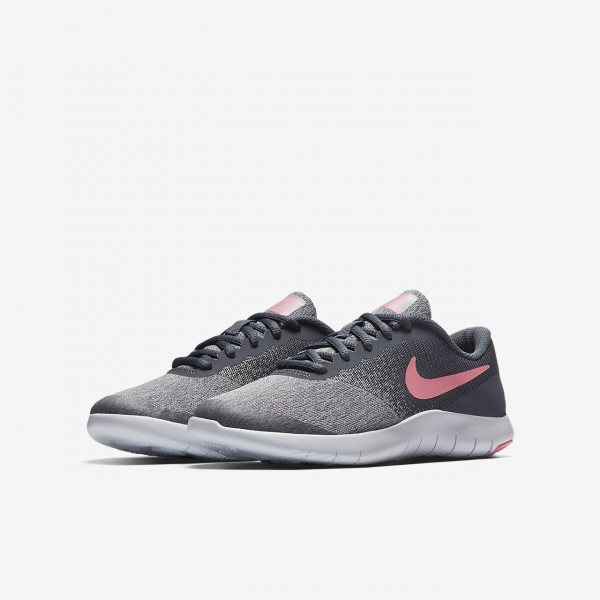Nike Flex Contact Laufschuhe Mädchen Hellgrau Weiß Rosa 784-68750