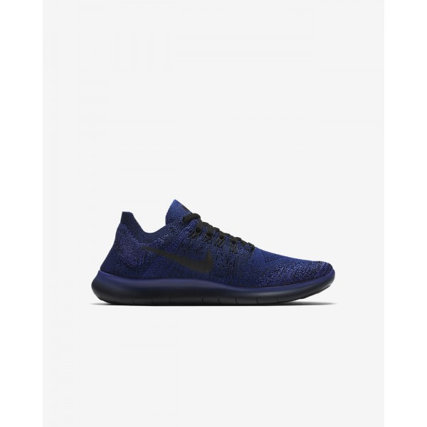 Nike Free Rn Flyknit 2017 Laufschuhe Mädchen Tiefes Königsblau Blau Lila Pink Schwarz 788-41516